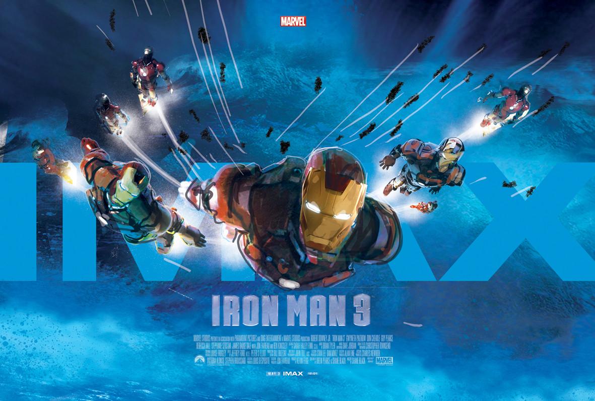 Iron Man 3 Alternative IMAX Poster by Jock 01