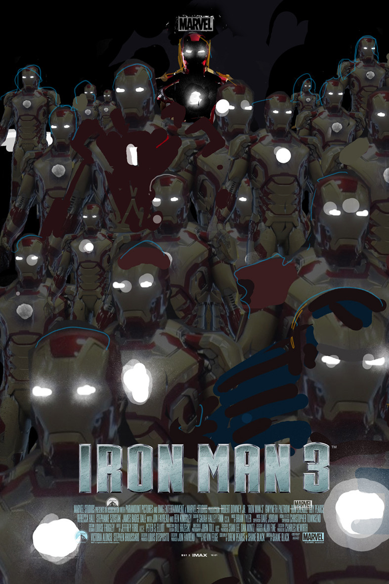 Iron Man 3 Alternative IMAX Poster by Jock 04