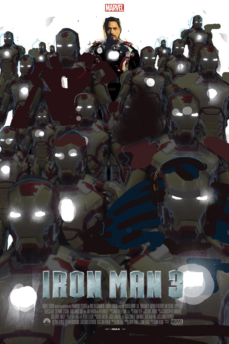 Iron Man 3 Alternative IMAX Poster by Jock 06