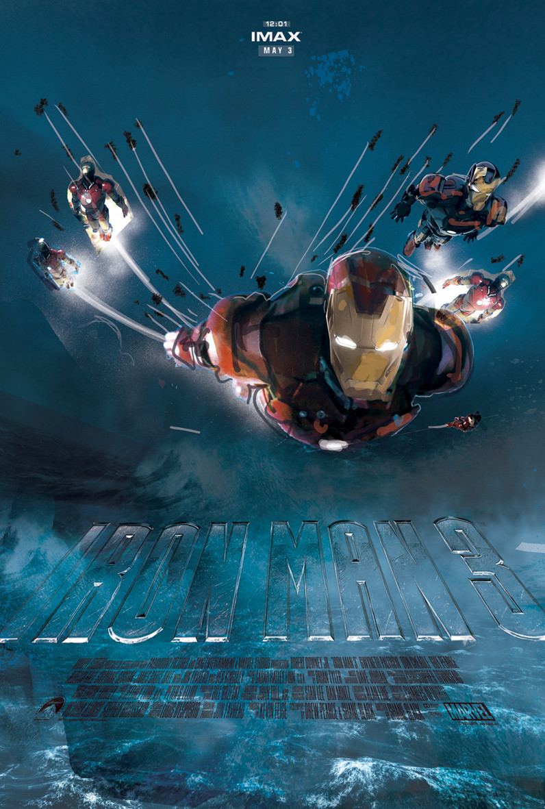 Iron Man 3 Alternative IMAX Poster by Jock 07