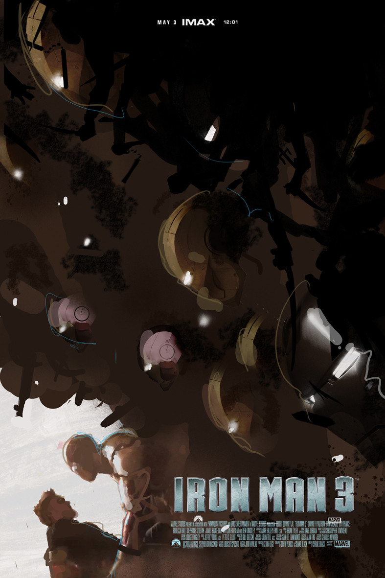 Iron Man 3 Alternative IMAX Poster by Jock 08