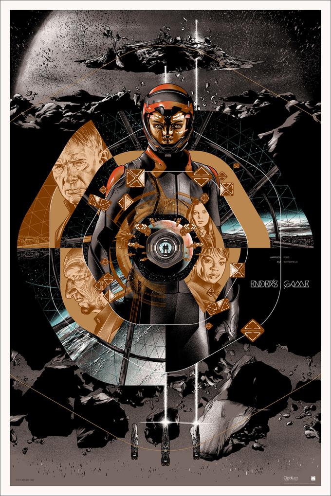Ender's Game Mondo Poster Gold Variant