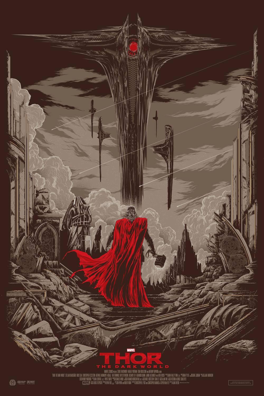 Thor The Drak World Mondo poster Regular