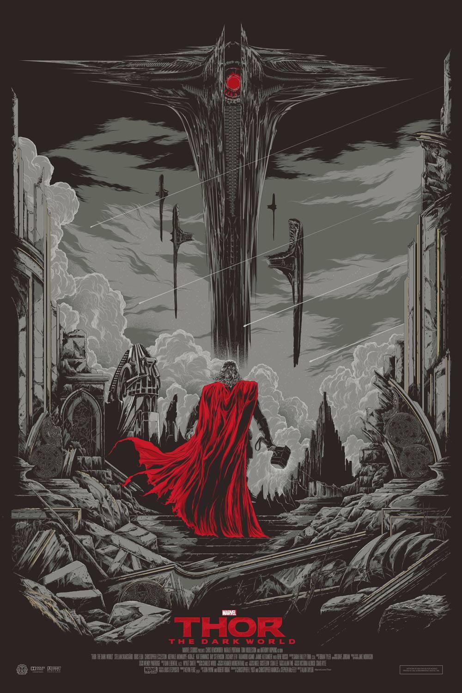 Thor The Drak World Mondo poster variant