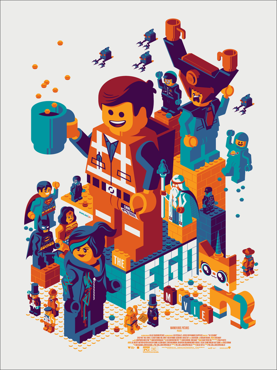 The LEGO Movie MONDO Poster by Tom Whalen