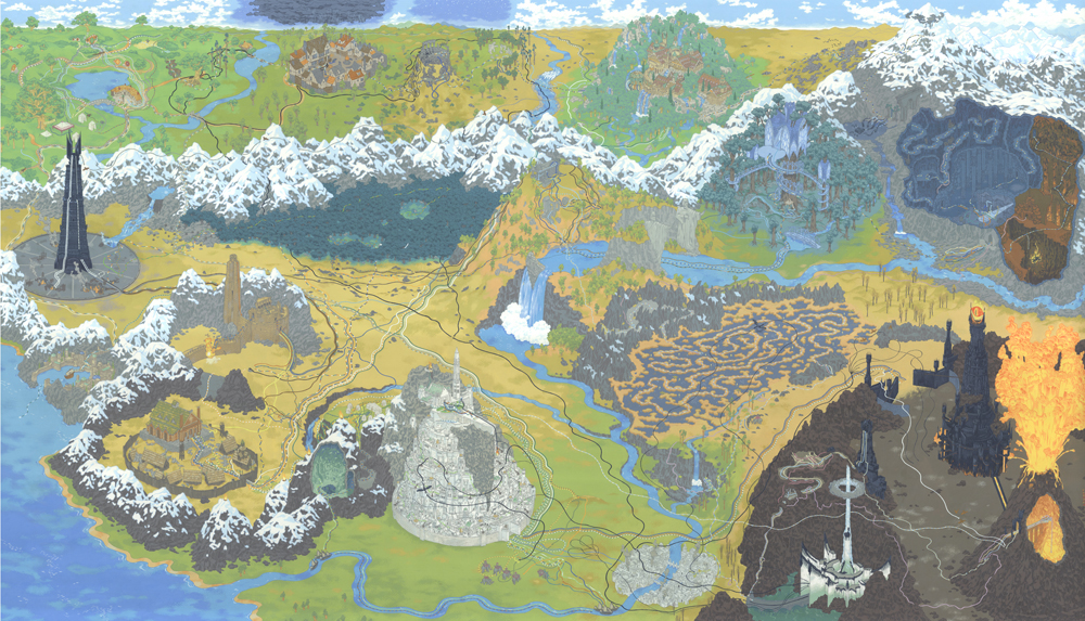 Cartography The Lord of the rings