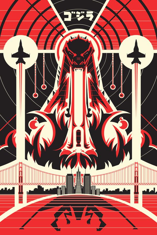 Godzilla by Ron Guyatt