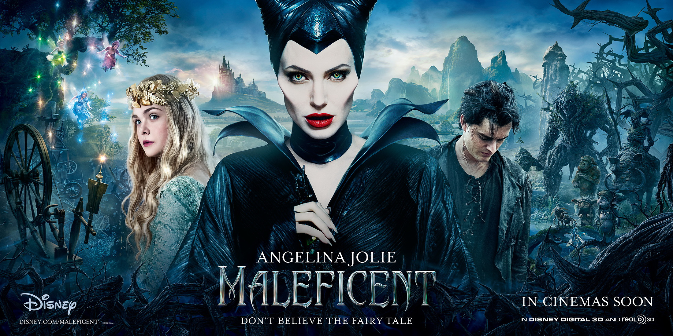 Maleficent Triptych poster