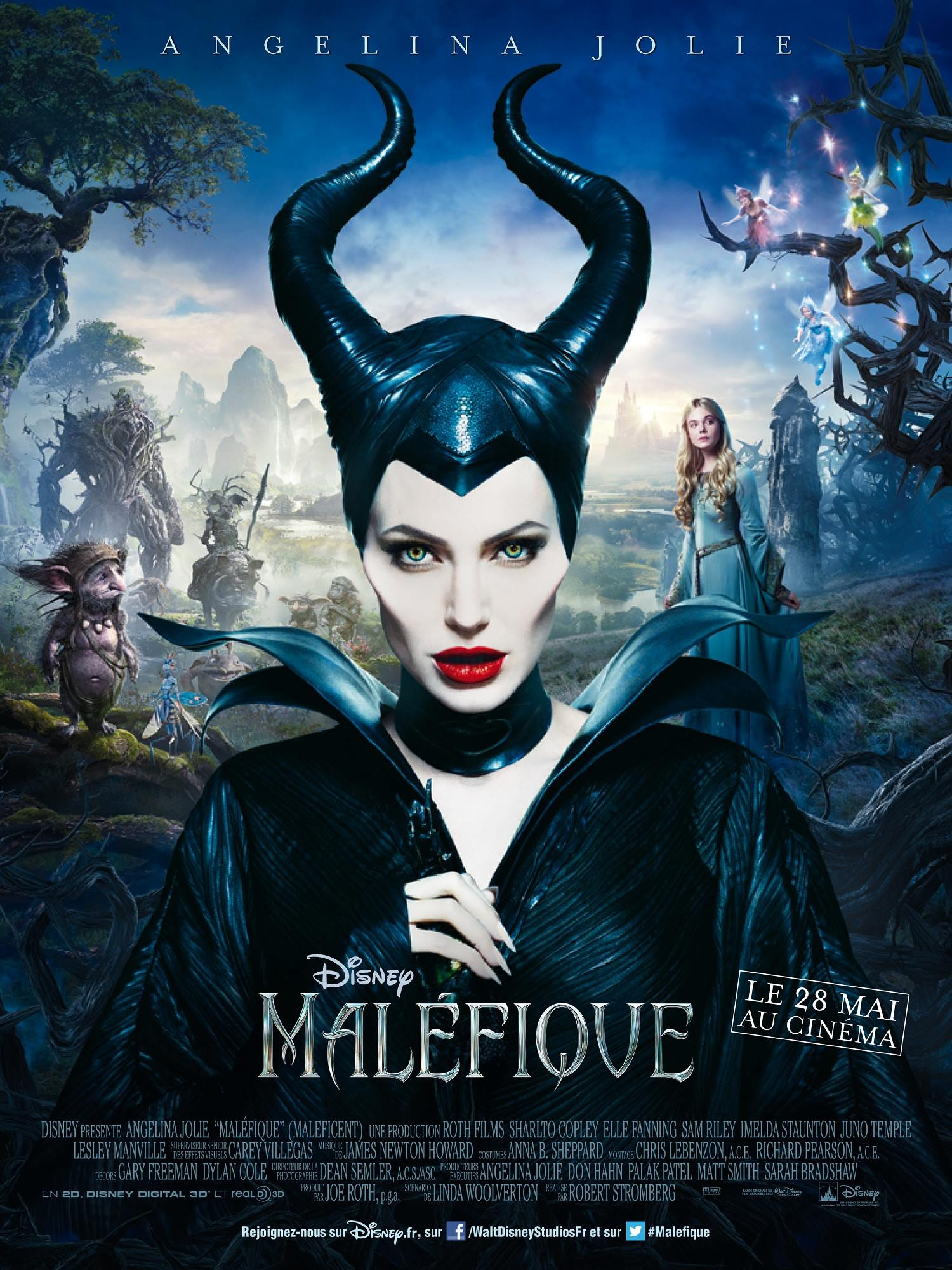 Maleficent french poster