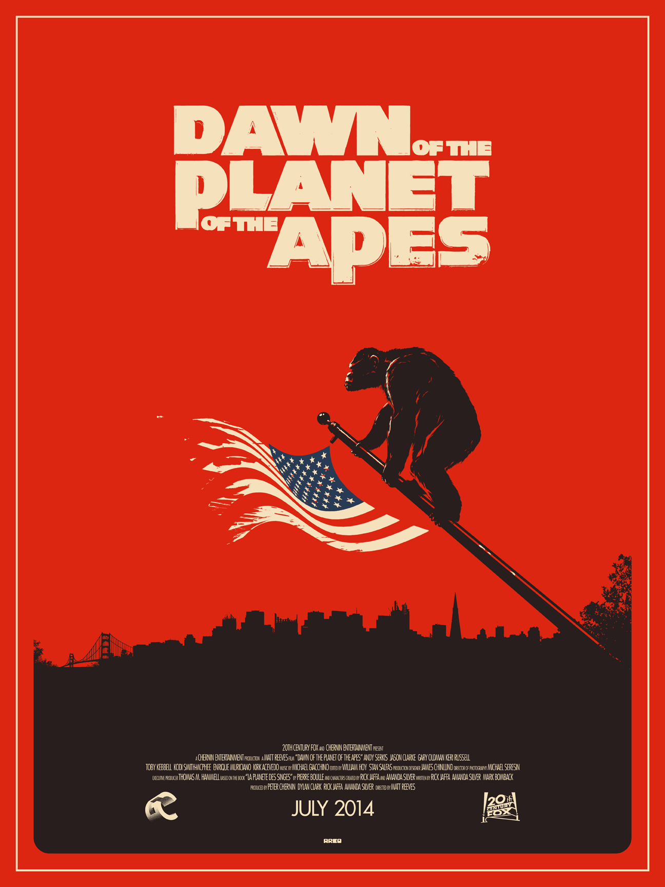 Dawn of the planets of the apes by Matt Ferguson