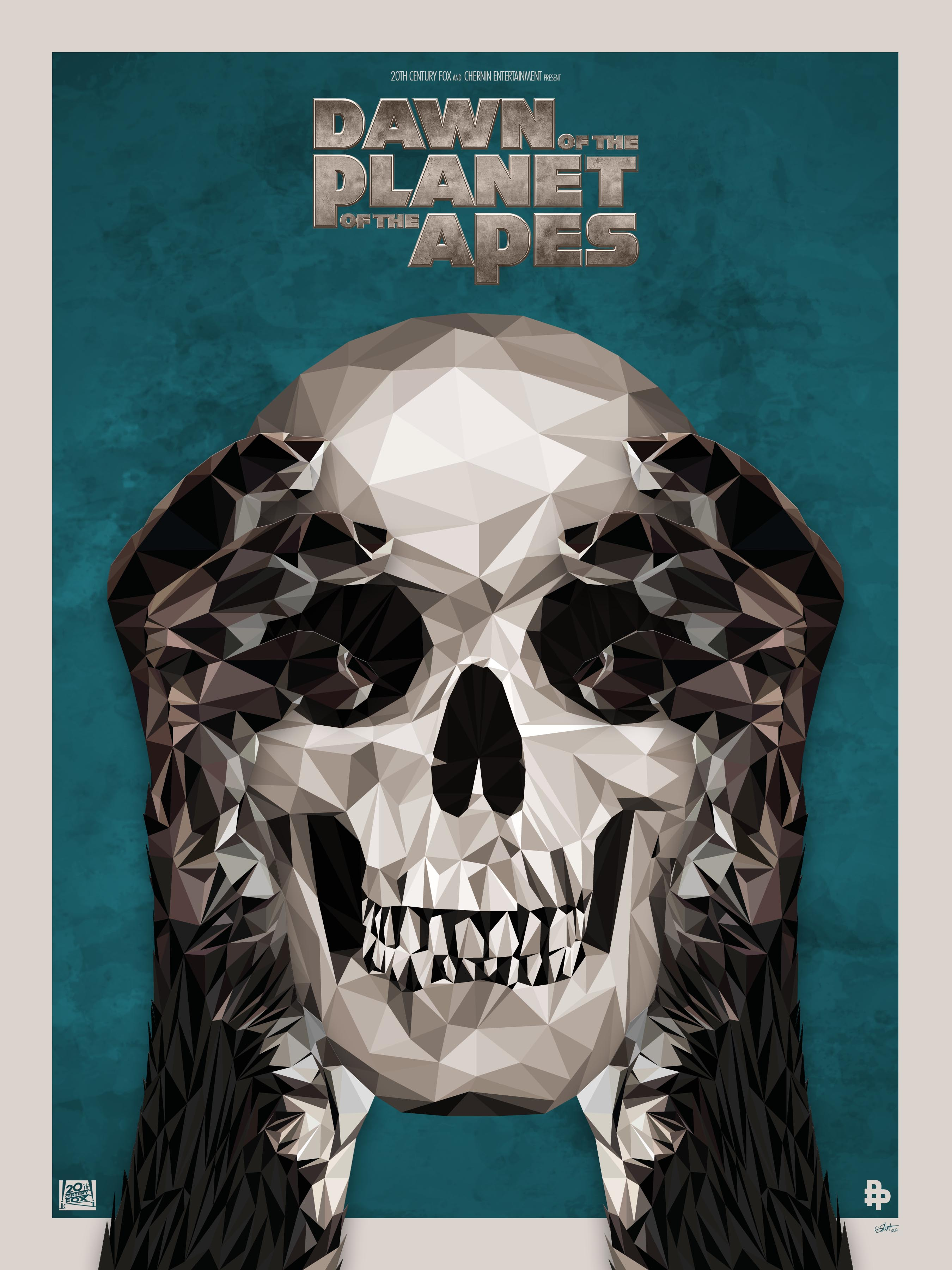 Dawn of the planets of the apes by Simon Delart
