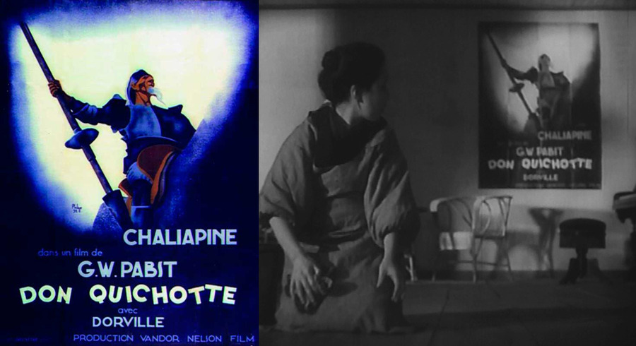 Poster for G. W. Pabst's Don Quixote (1933) in A Mother Should Be Loved (1934)