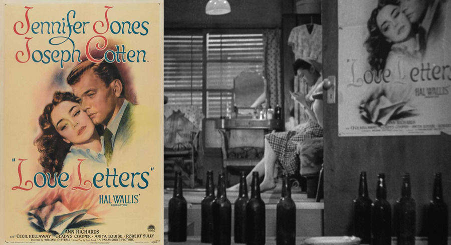 Poster for William Dieterle's Love Letters (1945) in A Hen in the Wind (1948)