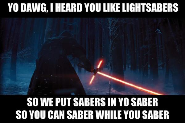 Star Wars Episode VII - lighsaber joke8