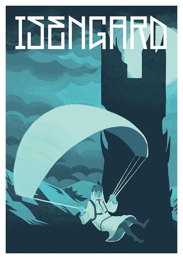 Jesse-Riggle-Isengard-LOTR-Postcard