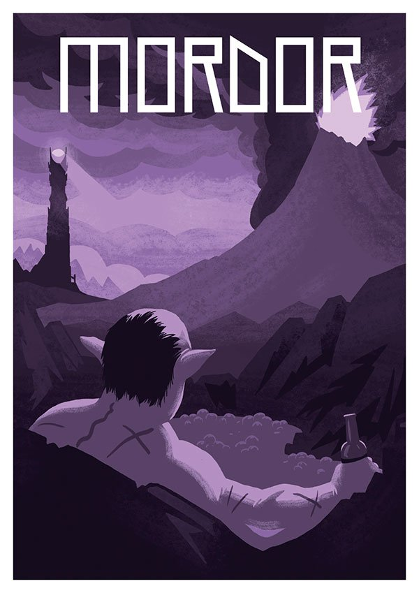 Jesse-Riggle-Mordor-LOTR-Postcard