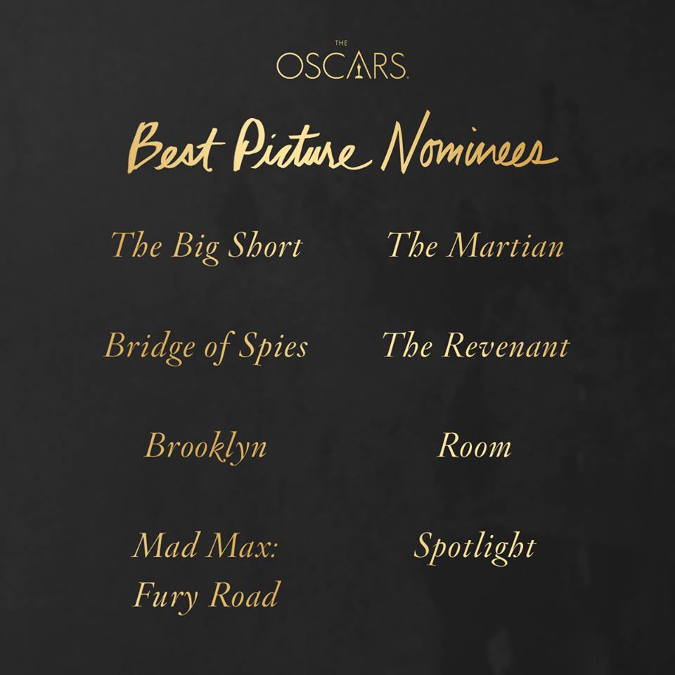 Oscars 2016 Best Picture